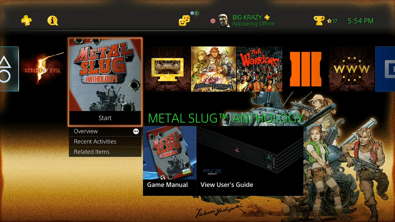 Metal Slug Anthology PS4 Trophy List/Theme + Gameplay HD 1080p No Commentary