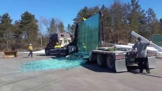 EPIC! Semi load oḟ glass SMASHED!!!