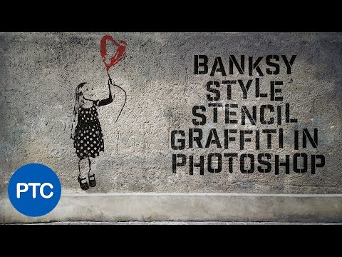Banksy Style Stencil Graffiti Effect In Photoshop