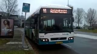 Hybird 5419 Vertrekt met een Trambell als Lijn 11 van Dokweg