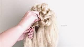 Простая и Быстрая Прическа с бубликом на Новый год 2021 New Bun hairstyle for gown