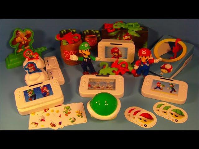 2012 Super Mario Bros Nintendo Wii U Set Of 10 Burger King Kids Meal Toys Video Review