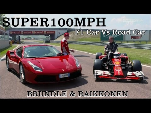 BRUNDLE & RAIKKONEN F1 Car Vs Road Car