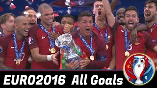 EURO2016 All Goals - English Commentary