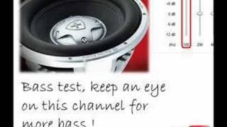 Bass test - Subwoofer excursion