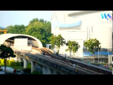 Singapore, Pasir Ris MRT Station/White Sands Mall, time lapse