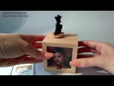 DANZATORI carillon bomboniera ( carioncino e porta foto) da collezionare - Close to you