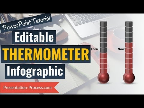 How to create editable thermometer chart visual powerpoint graphs series also rh youtube