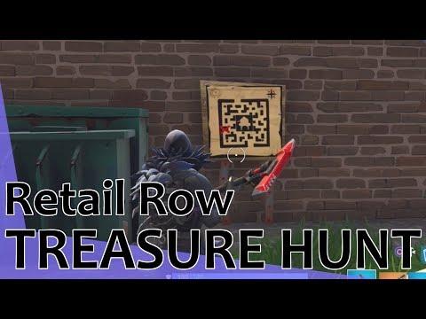 Fortnite - Retail Row Treasure Map