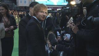 Ed Sheeran and Justin Bieber at the