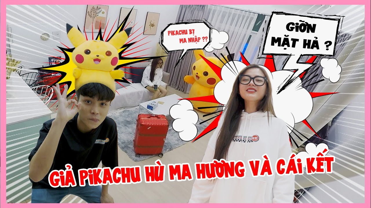 Huy Giả Làm PiKaChu Khổng Lồ Bị Ma Ám Hù Hương Và Cái Kết | Pikachu Troll