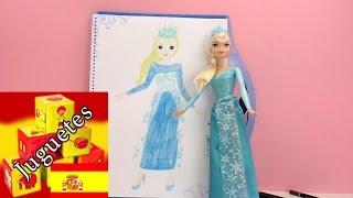 pintar elsa frozen - Dibujo de la Princesa Elsa tutorial en espanol