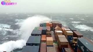 Top 15 Ships In Heavy Sea Storm! Listen To The Noise!