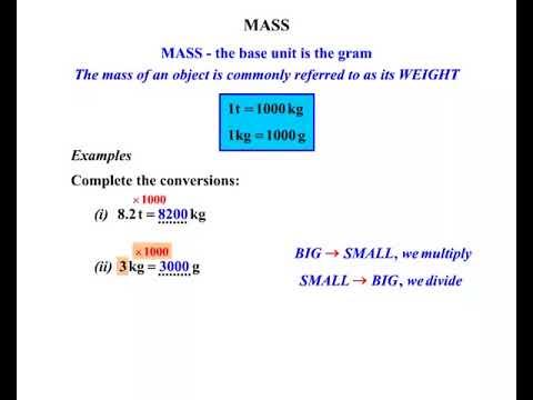 conversion mass