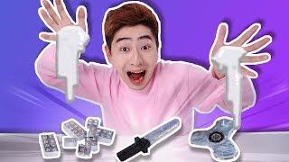갈륨[GA]으로 피젯스피너, 레고블럭 만들기 놀이 [ gallium fidget spinner, lego ] - 강이