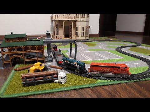 Детская Железная дорога Power City Trains Building Machine С пультом управления