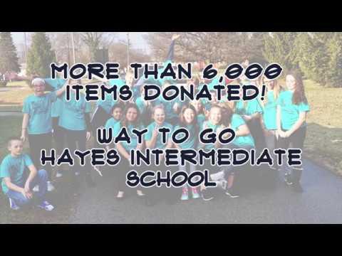 Hayes Intermediate School Helps Out!