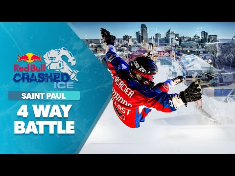 GoPro View: Epic 4-Way Downhill Ice Cross Battle at Crashed Ice Saint Paul