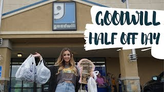 GOODWILL HALF OFF DAY