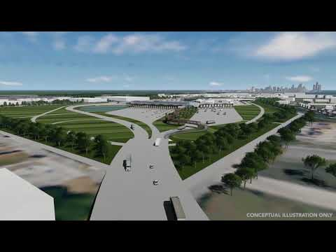Animation of the US Port of Entry (POE) and I-75 interchange