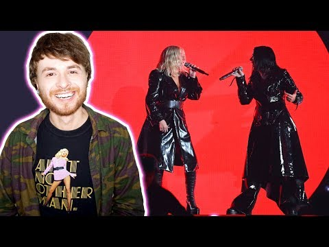 CHRISTINA AGUILERA Ft. Demi Lovato Fall In Line Live Billboard Music Awards 2018 X6 [REACTION]