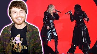 Baixar CHRISTINA AGUILERA Ft. Demi Lovato Fall In Line Live Billboard Music Awards 2018 X6 [REACTION]