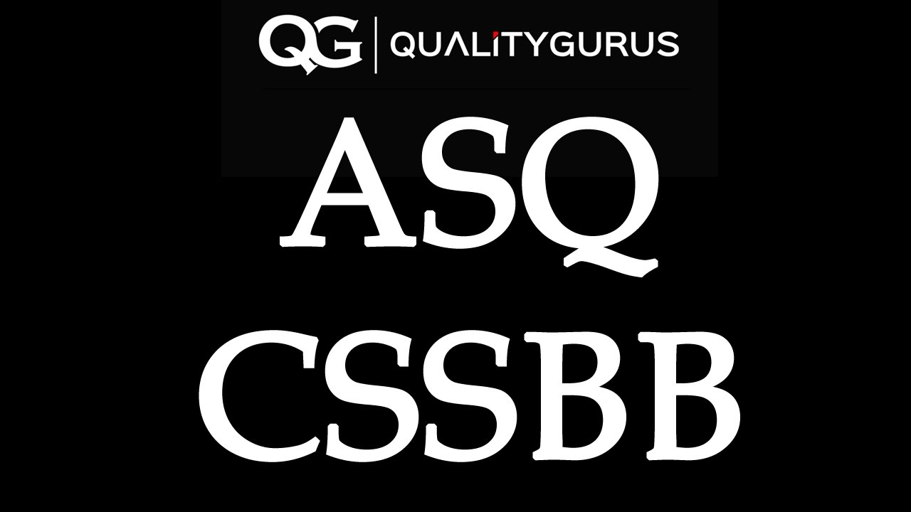 Asq Cssbb Exam Preparation Youtube