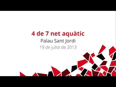 Castells inoblidables (IX): 4 de 7 net aquàtic - Palau Sant Jordi, 13 de juliol de 2013