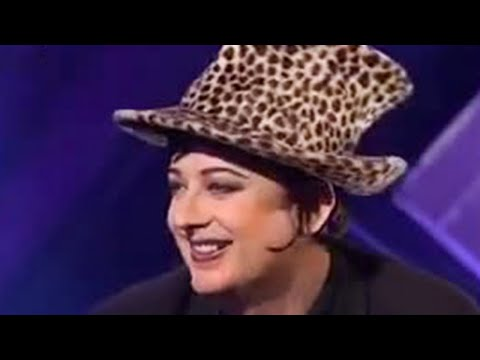 Boy George flirts with a blushing Sean Hughes  BBC