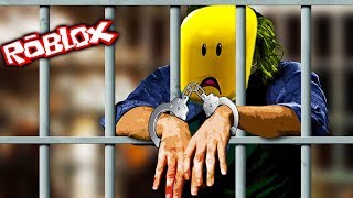 Jailbreak square hero Roblox cartoon game for kids running away with very challenging prison