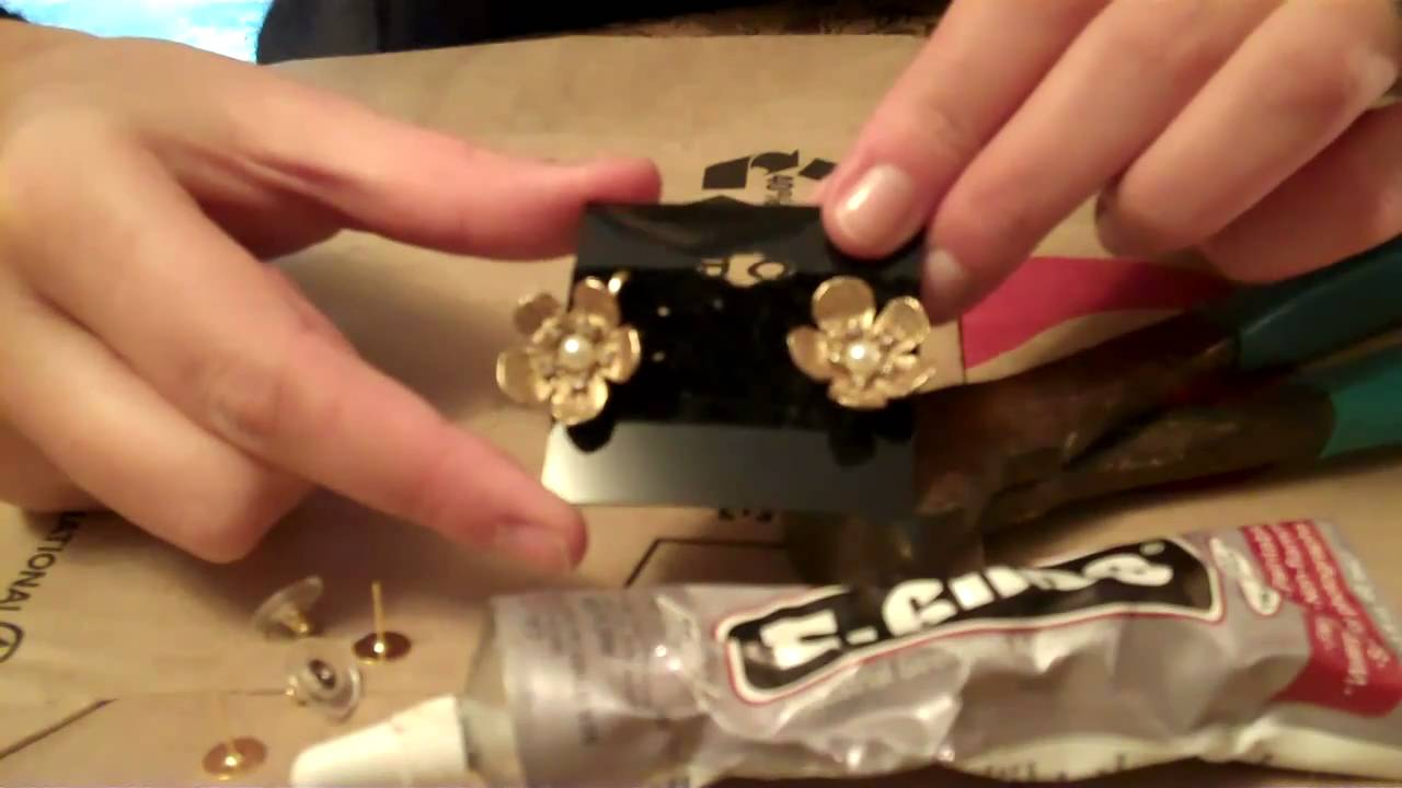 Diy Tutorial How To Convert Vintage Clip On Earrings To Posts