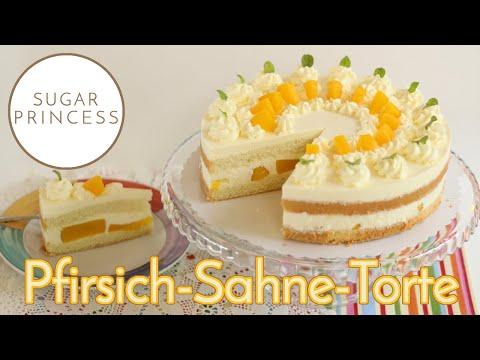 Super Einfache Käse-Sahne-Torte Mit Pfirsich   Rezept Von Sugarprincess