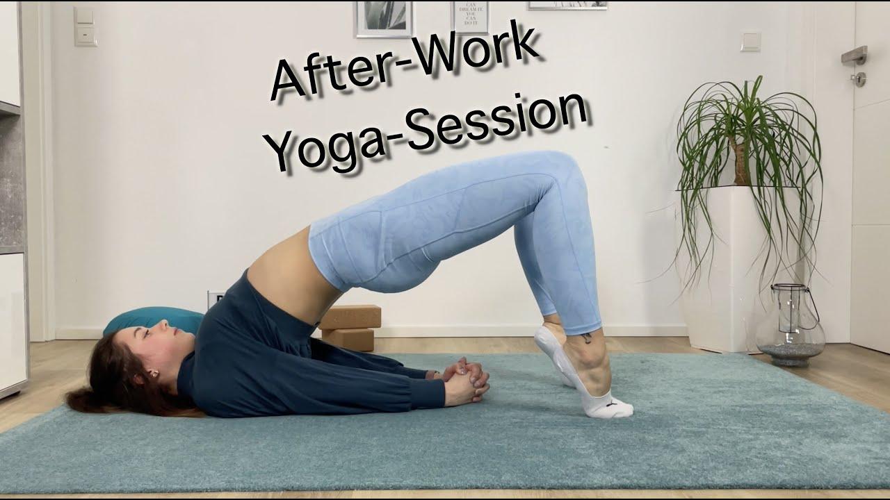 After-Work Yoga-Session mit Nadine