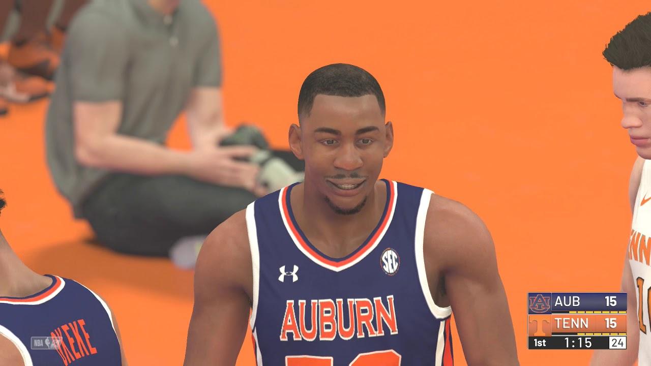 Auburn Vs Tennessee Nba 2k19 College Hoops 2k19 2019 Sec Championship