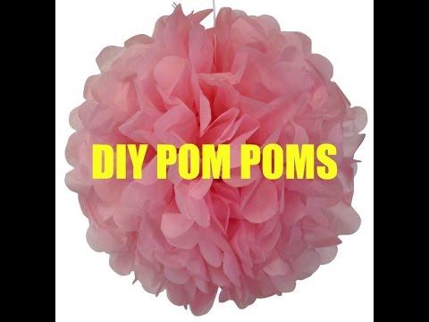 DIY Princess Party Pom Poms