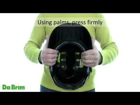 f271f017 Da Brim Rezzo Set Visor Installation Rounded Helmet - YouTube