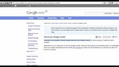 How to delete your Google Voice account.