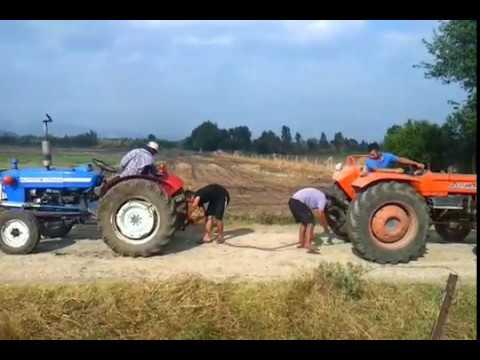 ford 3000 vs fİat 450 traktör çekişmesi - youtube