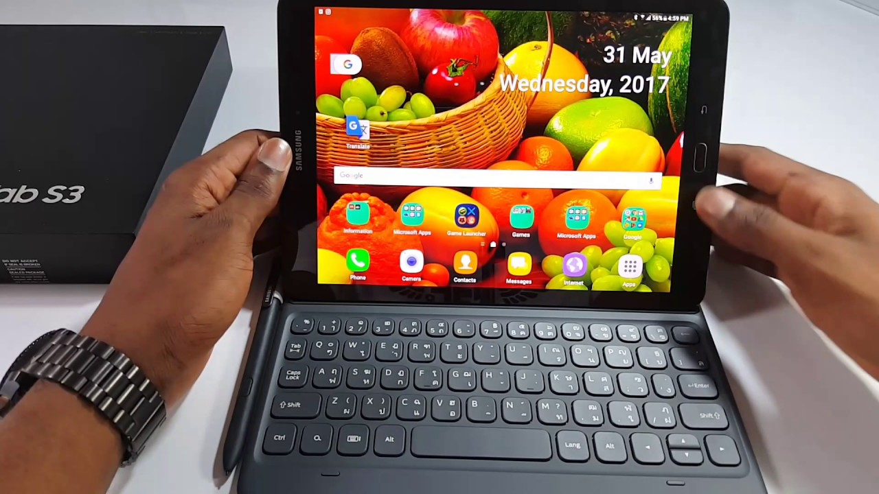 Book Cover Tab S3 ~ Galaxy tab s3 official book cover and keyboard youtube