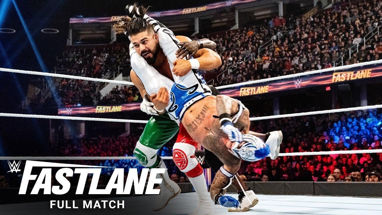 Download FULL MATCH - Samoa Joe vs Rey Mysterio vs R-Truth vs Andrade - U.S. Title Match: WWE Fastlane 2019