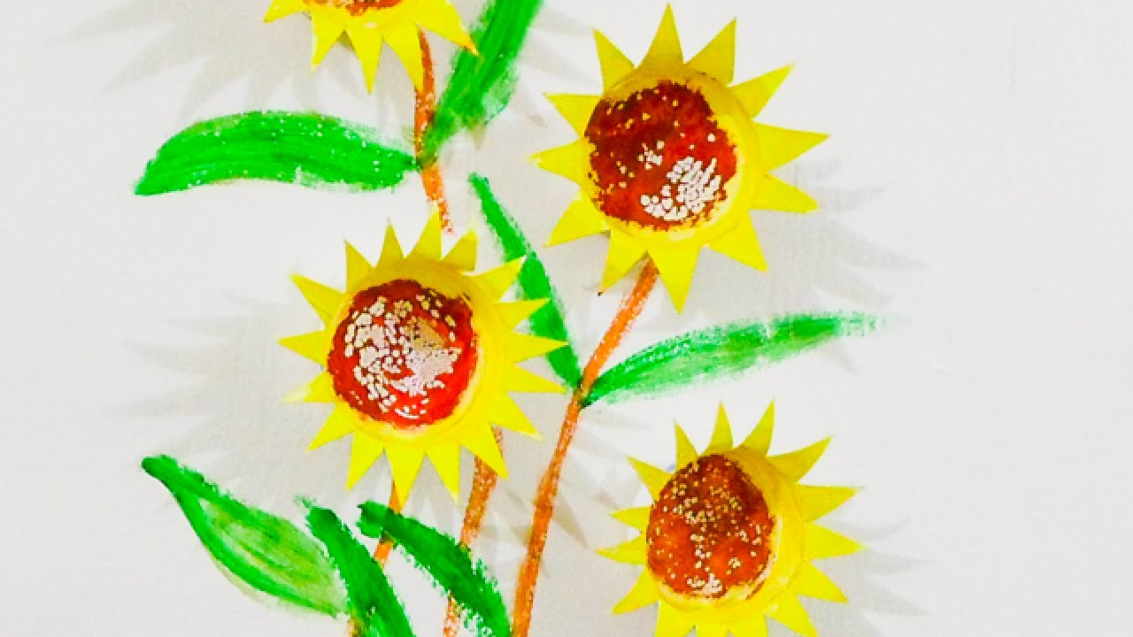 How To Create Pretty Sunflower Paper Cup Wall Art - DIY Home ...