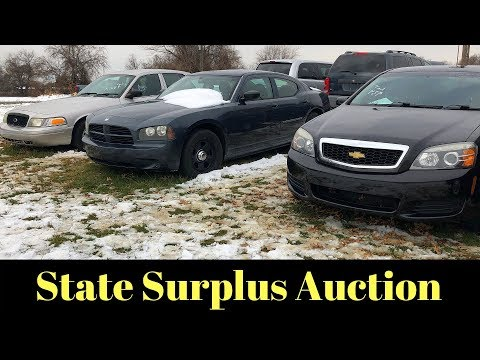 Government Auction Inspection Day - Ford Crown Victoria and Chevy Caprice PPV