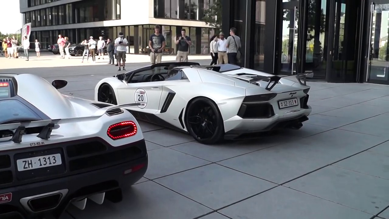 START UP BATTLE Koenigsegg Agera R vs Lamborghini Aventador Novitec