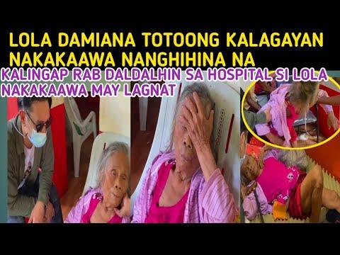 Kalingap RAB-TOTOONG KALAGAYAN NI LOLA DAMIANA NAKAKAAWA PAYAT AT NANGHIHINA Val Santos Matubang -  (2020)