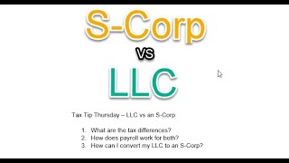 LLC vs an S-Corp
