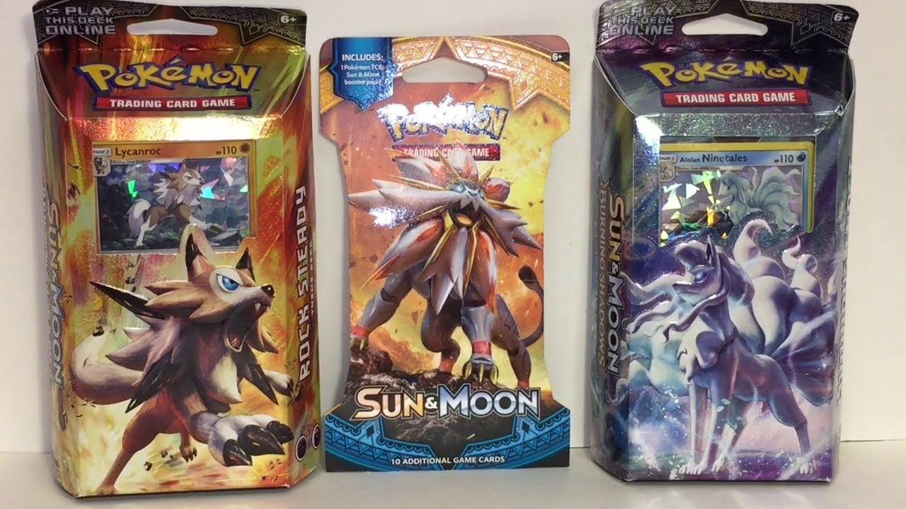 Pokemon TCG Sun /& Moon Burning Shadows theme Intro Decks ASSORTED