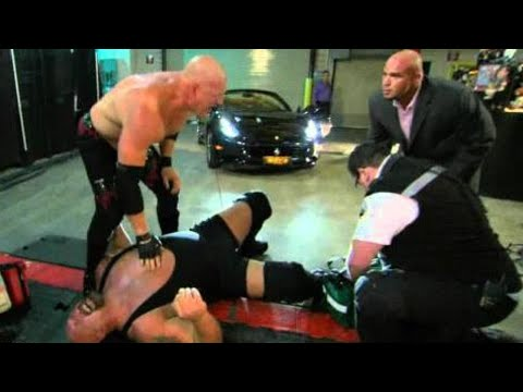 Raw: Big Show's leg is crushed beneath Alberto Del Rio's car thumbnail