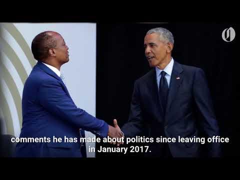 Obama slams Trump's politics in speech honoring Nelson Mandela
