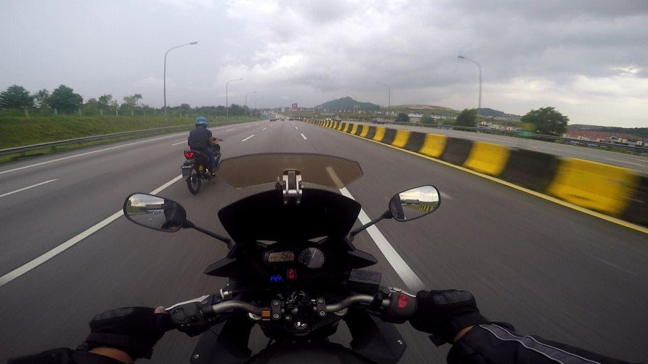 Yamaha Y15 Modified following Yamaha XJ6   Malaysia (150KM/h++)