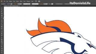 Speed Drawing - Denver Broncos Helmet Logo